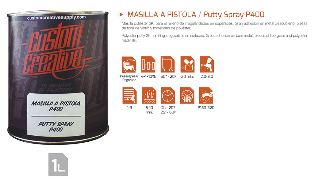 MASILLA A PISTOLA / Putty Spray P400